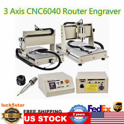 3axis 6040 1500w Cnc Router Engraver Milling Drilling 3d Cutter Printer 220v