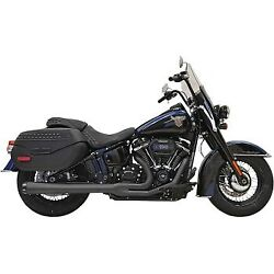 Bassani Black 24 Long Road Rage 2-into-1 Exhaust System For 18-20 Flhc/flde