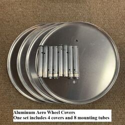 4 Semi Truck Aero Wheel Covers With Hardware - All Made By Aluminum