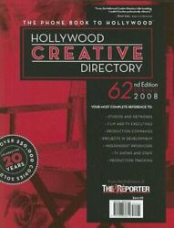 Hollywood Creative Directory, 62nd Edition By Staff Of The Hollywood Creative…