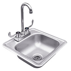 Summerset Professional Grills 15x15 Stainless Steel Drop-in Sink And Hot/cold Fau