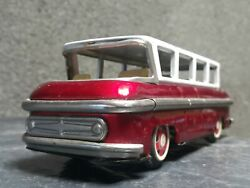 Vintage Airport Limousine 60's Bus Car Tin Toy Friction China Mf 992 Old Rare