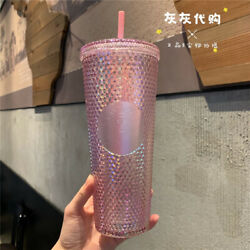 2021starbucks Cup Cherry Blossom China Ox Year Topper Diamond Studded Tumbler