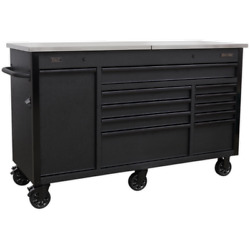 Sealey Tool Roller Cabinet And Power Tool Charging Drawer Black
