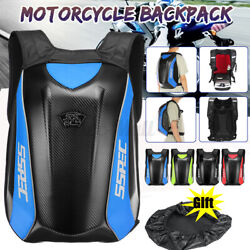 Carbon Fiber Motorcycle Backpack Motocross Storage Bag With Waterproof Cover gt; $44.59