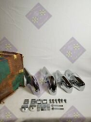 1957 Chevy Bel Air Front And Rear Bumper Guards Nos-rechromed