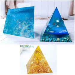 Large Silicone Pyramid Mold Epoxy Resin Jewelry Making Mould Casting DIY Craft