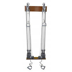 Cando Chest Weight Pulley System - Dual Handle Lower Mid - Two Towers - 10 X