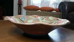 Southern Living At Home Gail Pittman Cottage Garden Brown Large Bowl 15.5 Appro