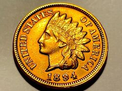 1894/1894 Indian Head Cent-very Rare Double Date Borderline Uncirculated