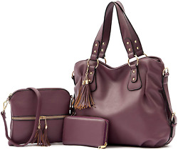 Qiyuer Large Hobo Bags Purse For Women Purses And Handbags Set Fashion Shoulder $57.99