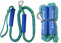 Agool Pwc Bungee Dock Lines - 2pcs Stretchable Braided Line With Foam Float A...