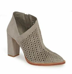 Vince Camuto 258255 Womens Lorva Suede Bootie Shoes Gray Size 12 Medium