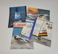 Vintage Late 1970s - Early 1980s Laser Sailboat One-page Brochure Set
