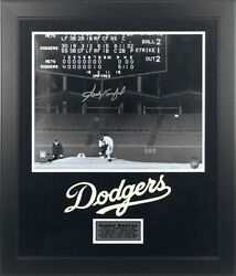 Sandy Koufax Autographed Los Angeles Dodgers 16x20 Photo Framed First No-hitter