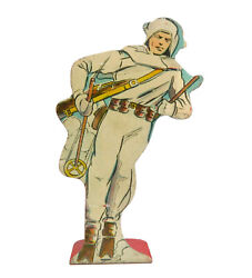 Marx Ski Trooper On Patrol Soldiers Of Fortune Tin Target Litho Play Set Toy