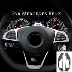 For Mercedes Benz C E Cla Class 2015+ Real Carbon Fiber Paddle Shifter Extension