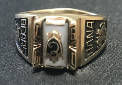 10k Gold 7.0 -1991 Class Ring-go Bears Gold Vintage Authentic Original -stamp10k