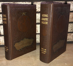 1950 National Geographic Magazine Bound Library Collectors Volumes 97 And 98 Maps