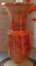 Exremely Rare Roland Ginzel Painter Wood Wall Hearth Vessel Umbrella Stand Art