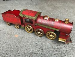 Antique Toy Train D.p Dayton Clark Hill Climber Locomotive 1900 Metal