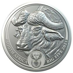 Buffalo – Big Five 2021 5 Rand 1 Oz Pure Silver Bu Coin In Blister South Africa