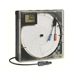Dickson Th8p3 8 Temperature/humidity Recorder With Probe Dig. Display And A...