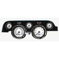 New Vintage Usa 02707-03 5 Gauge Performance Ll Wht 67-68 Mustang