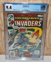 Invaders 7. 1st Appearance Of Union Jack And Baron Blood. Cgc 9.4