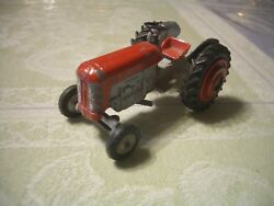 Super Rare Vintage Israeli 1950and039s-60and039s Gamda Red/grey Farm Tractor L@@k Read