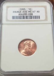 1995 P Lincoln Memorial Cent Double Die Obv Ms 67 Rd By Ngc