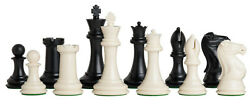 Large Quadruple Weighted Tournament Chess Pieces 4 Inch King 3.9 Lb Extra Queens