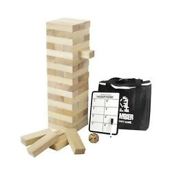 Giant Timber Tower With Dice And Game Board, 56 Pcs Gentle Monster Large Size W...