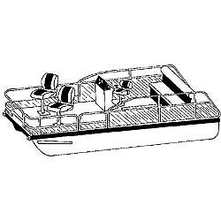 Pontoon Cover With Rails And Top 24and039 6andquot X 102andquot - Seachoice