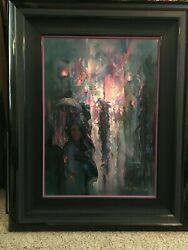 John Pitre - Night Street - Signed And Numbered - Matted And Framed