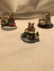 Avon Forest Friends Figurines Mice All Tucked In Qty 3