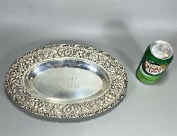 12.5 Top Quality Repousse Sterling Silver Oval Bowl Jenkins And Jenkins Baltimore