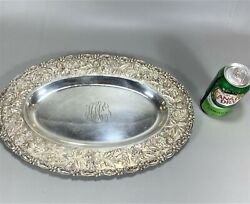 16 Top Quality Repousse Sterling Silver Oval Platter Bowl By S. Kirk And Son Co