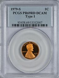 1979 S Type 1 Proof Lincoln Cent Pcgs Pr69 Red Dcam - Robust Red And Frosty