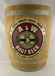 A And W Root Beer Half Barrel Sign