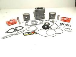 Polaris 700 Top End Engine Rebuild Kit New Pistons Gaskets Replated Cylinder