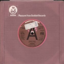Trammps Rubber Band 7 Vinyl Solid Label Promo With Company Sleeve Has Radio Sta