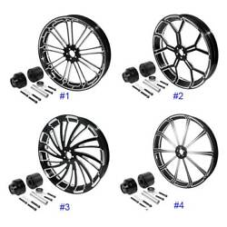 30''x3.5'' Cnc Front Wheel Rim Hub Single Disc Fit For Harley Touring 2008-2021