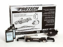 Uflex Protech 1 Front Mount Universal Hydraulic Outboard Steering Package