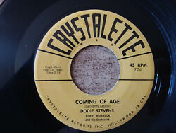 1958 Excellent Dodie Stevens-pink Chaussure Lacets / Coming Of Age No Pois Sur