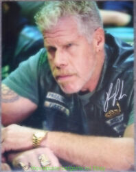 Ron Pearlman Autographed Still Photo 11x14 Signed In Sharpie Sons Of Anarchy