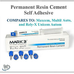 Dental Permanent Resin Cement Self Adhesive 7 Ml Automix Syringe With 6 Tips