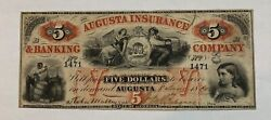Augusta Insurance And Banking Company 5 Augusta Georgia Note