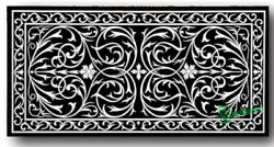 3and039x2and039 Black Marble Coffee Table Top Stones Inlay Pietra Dura Antique Work Lk1