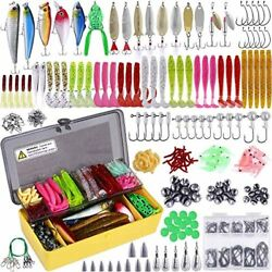 Plusinno Fishing Lures Baits Tackle Including Crankbaits Spinnerbaits Plastic